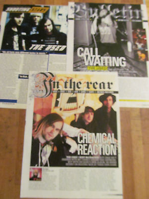The Used, Lot of THREE Full Page Clippings