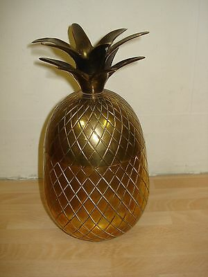 Vintage Pineapple Ice Bucket Solid Brass Approx 21cm Tall