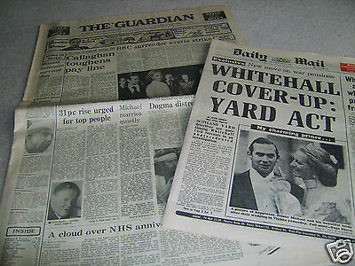 2 1978 Prince Michael Wedding UK newspapers in unfolded excellent condition