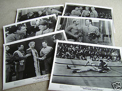 6 1951 Publicity photographs for Mister Universe the Wrestling themed comedy