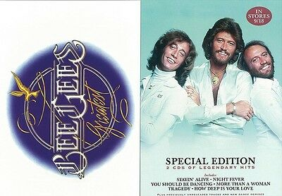BEE GEES GREATEST HITS promotional art card