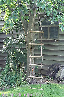 Tree Swing Rope Ladder 6 rung 2.5m Children's outdoor garden play tree house