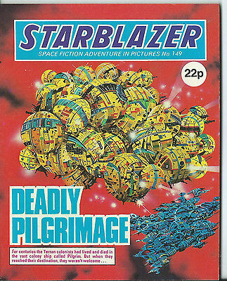 Deadly Pilgrimage,starblazer Space Fiction Adventure In Pictures,no.149,1985