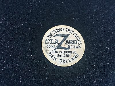 Lazard Coins Stamps New Orleans LA Wooden Doubloon Tycoon Used EX