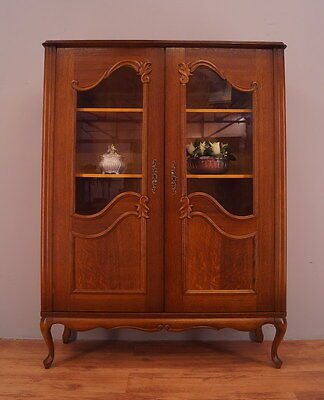 1202 !! Vintage French Display Cabinet/bookcase In Louis Xv Style !!