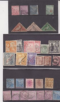 Collection Of Old Used Stamps