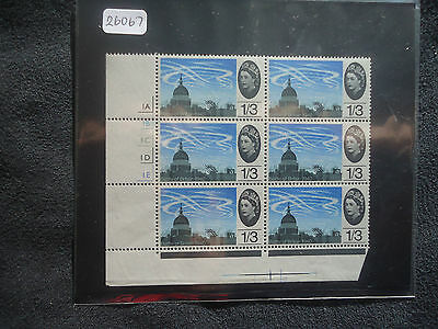 Great Britain 1965 Battle Of Britain (ORD) (1/3 Cylinder Block 6) MNH