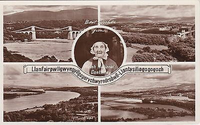 NO 236 - Old WELSH NATIONAL COSTUME MULTIVIEW POSTCARD - PHOTO PRECISION - RP