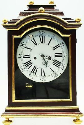 Antique 18thc Austrian Red Lacquered & Gilt Wood 2 Train Verge Bracket Clock