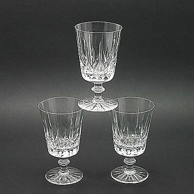 "Three Royal Brierley Crystal 'Regent' Pattern Wine/Water Glasses - 5.75"" High"