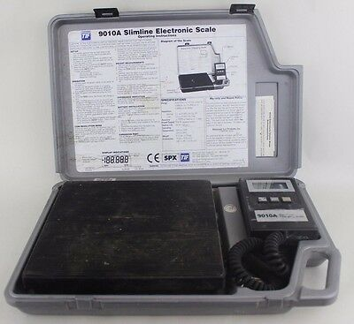 TIF 9010A Slimline Electronic Refrigerant Scale Charging.