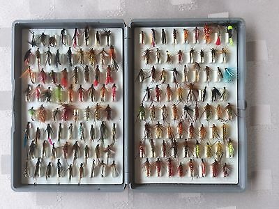 Fox Box with a collection of 134 trout flies