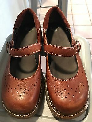 Doc Dr.. Martens Brown Leather Shoes Mary Janes Women's Size 10 US