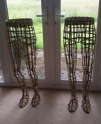 A fabulous and unusual pair of vintage 1950s wicker lower body mannequins