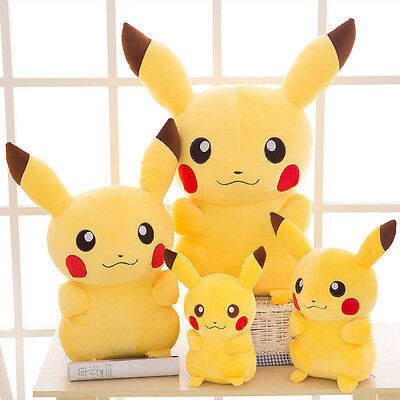 UK New Japanese Anime Pokemon Pikachu Soft Plush Toy Doll Teddy Kids Xmas Gift