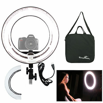 "New Camera 12""Diameter 5500K Dimmable Ring Fluorescen Flash Light Kit f Portait"