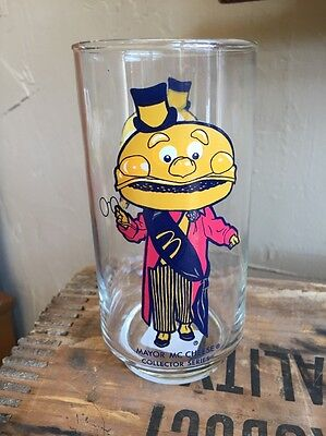 Vintage 1970's McDonalds Mayor McCheese Collector Drinking Glass
