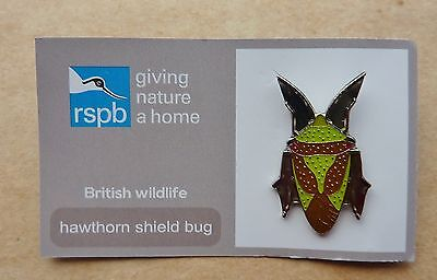 Rspb Pin Badge Hawthorn Shield Bug  On Giving Nature A Home