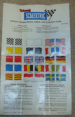 vintage SCALEXTRIC A/235  INTERNATIONAL signal and starting flags sheet ORIGINAL