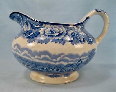 English Scenery Blue Creamer Enoch Wood & Sons England Blue Transferware (O2)