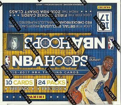 2016-17 Panini HOOPS NBA Basketball Trading Cards New Sealed 24ct. Retail Box