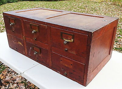 6 Drawer Mission Oak File Cabinet Globe Barrister Stacking Section Or Use Alone