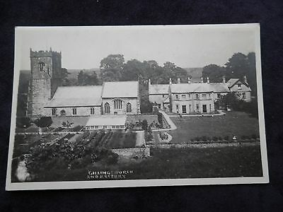 Vintage Old Postcard Of Gilling Church And Rectory