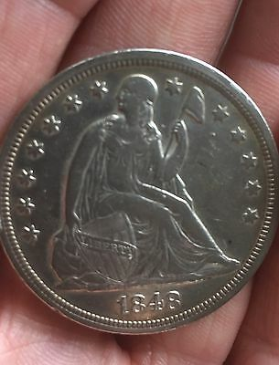 1848 Seated Liberty Dollar Low Mintage 15,000