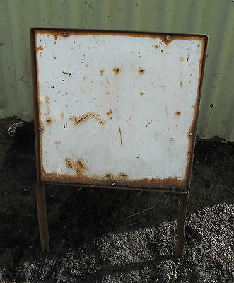 METAL Free STANDING Traffic Highway A-BOARD ROADSIGN Road Sign - BLANK SQUARE
