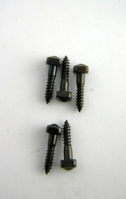 Wood Screws Pyramid Square Head Steel Black Oxide #12x1 PS121