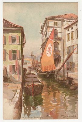 Italy, Canale, Chioggia Early Chromo Art Postcard, B181