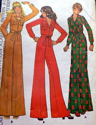 LOVELY VTG 1970s JACKET AND PANTS Sewing Pattern 12/34