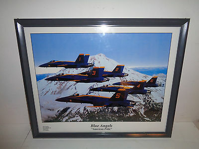 "Vintage Blue Angels ""American Pride"" Framed Photo (21.5 by 17.5 Inch)"