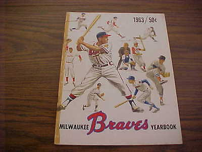 1963 MIlwaukee Braves Official Official Baseball Yearbook