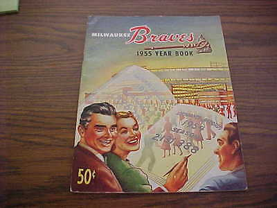 1955 Milwaukee Braves Official Baseball Yearbook