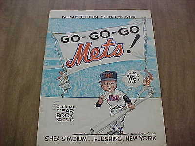 1966 New York Mets Official Baseball Year Book