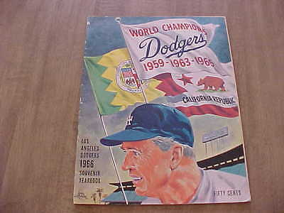 1966 Los Angeles Dodgers Official Baseball Yearbook