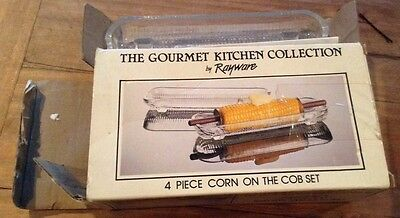 Vintage Rayware (4) Corn on the Cob Dishes