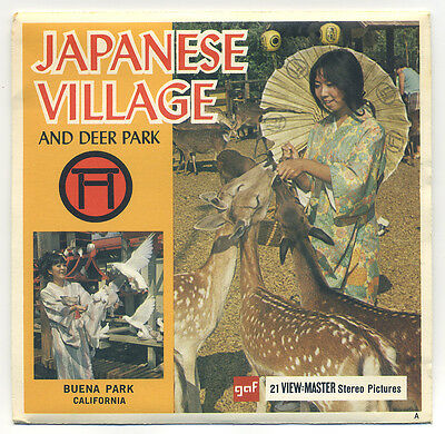 Japanese Village and Deer Park Buena Park California 1970 View-Master Set A-232
