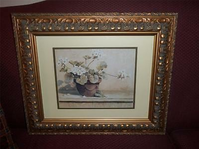 framed DOUBLE MATTED FLORAL PICTURE
