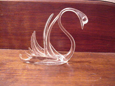 Glass Figure of a Swan