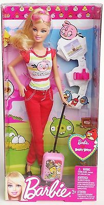 Mattel Y8722 Barbie Loves Angry Birds Doll with Accessories (Red Trousers)