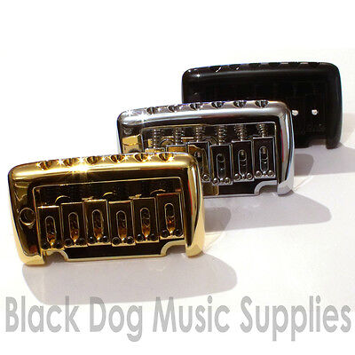 Quality knife edge pivot  tremolo in chrome, Black or Gold by Sung il BS202