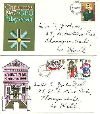 10 x First Day Covers - 1960's-1970's