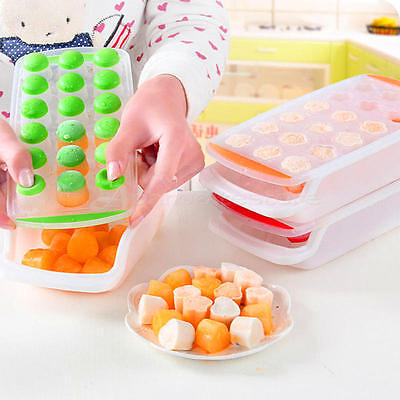 DIY Silicone Ice mold Cookies Chocolate Mold Ice Jelly Cube Freeze Tray Mould