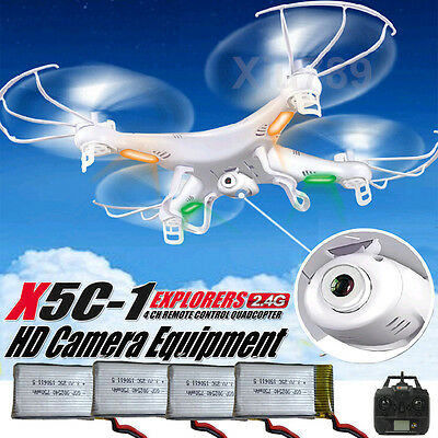 X5C-1 2.4G 6-Axis Drone RC Quadcopter FPV Aircraft Helicopter+2MP Camera+Battery