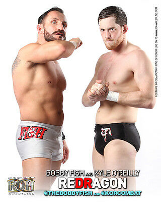 Official ROH Ring of Honor reDRagon (Fish & O'Reilly) UK 8x10