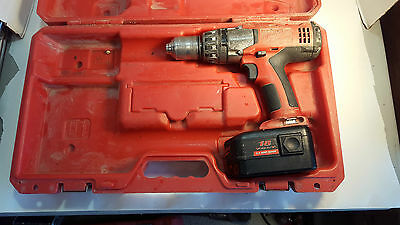 "MILWAUKEE 1/2"" Hammer Drill Driver with Handle, Belt Clip, Case & Battery Works"