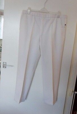 "HENSELITE BOWLS  by PALS CLOTHING Waist 40"" I/Leg 31"" WHITE BOWLING TROUSERS"