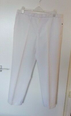 "HENSELITE BOWLS  by PALS CLOTHING Waist 40"" I/Leg 33"" WHITE BOWLING TROUSERS"